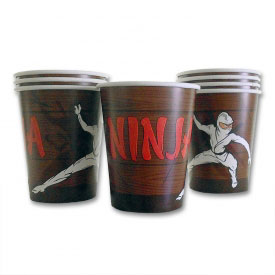 Ninja Attack Paper Cups (8-Pack)