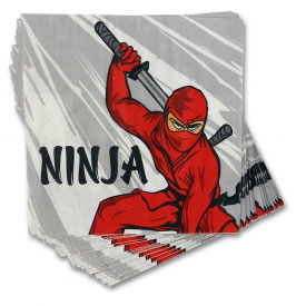 Ninja Attack Party Lunch Napkins (20-Pack)
