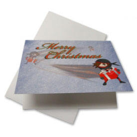 Ninja Santa Christmas Greeting Cards (5-Pack)