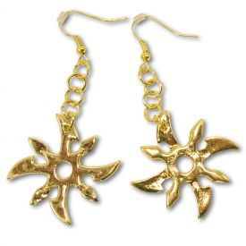 Ninja Star Earrings