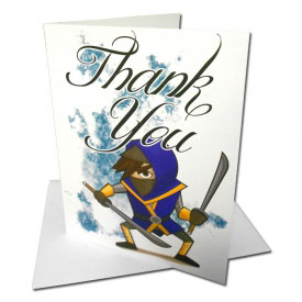 Ninja Thank You Cards