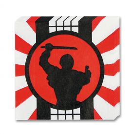 Ninja Warrior Beverage Napkins (16-Pack)