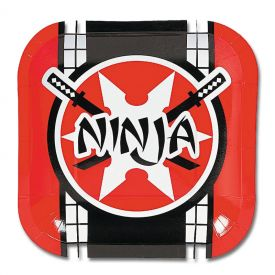 Ninja Warrior Dessert Plates (8-Pack)