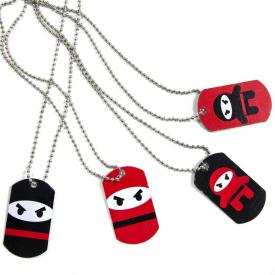 Ninja Warrior Dog Tags (12-Pack)