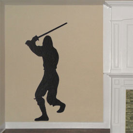 Ninja Warrior Wall Decal