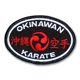 Okinawan Karate Oval Patch