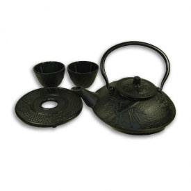 Ornate Iron Tea Set