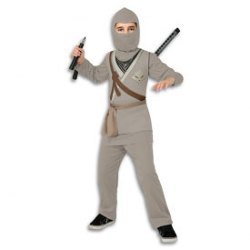 Padded Grey Fox Ninja Costume