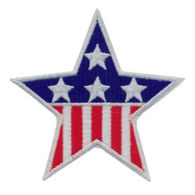 Patriotic Star Patch
