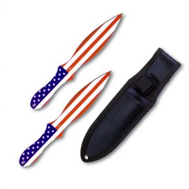 Patriotic Throwing Knife Set