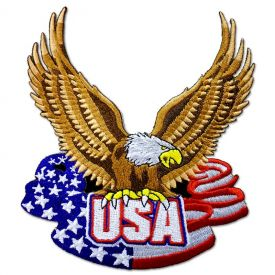 Patriotic U.S.A. Eagle Patch