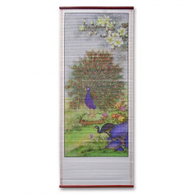 Peaceful Peacocks Chinese Wall Scroll