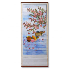 Peaceful Pond Chinese Wall Scroll