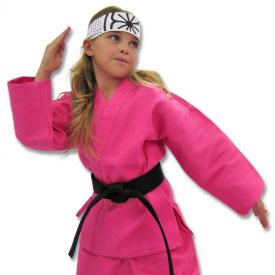 Pink Karate Costume Girls Pink Karate Uniform Female