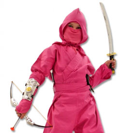 Pink Ninja Warrior Costume