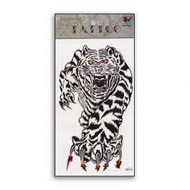 Raging Tiger Animal Spirit Temporary Tattoo