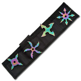 Rainbow Throwing Star Set