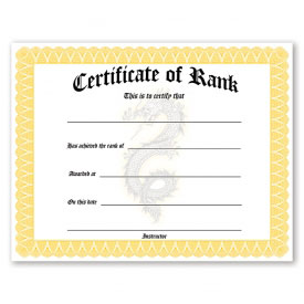 Rank Promotion Certificates (12 Pack)