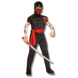 Muscular Ninja Warrior Costume