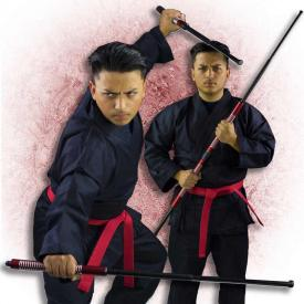 Red 2-Piece Collapsible Bo Staff