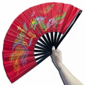 Red Bamboo Kung Fu Fan
