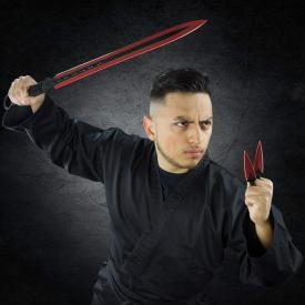 Red Blade Kunai Sword