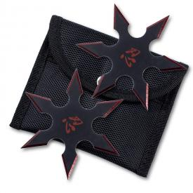 Red Blade Throwing Star Set