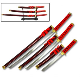 Red Dragon Katana Set