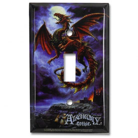 Red Dragon Light Switch Cover