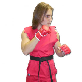 Red Karate Fighter Costume