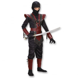 Red Leather Ninja Fighter Costume