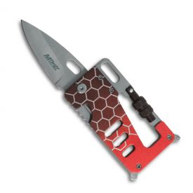 Red Multitool Credit Card Knife