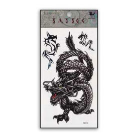 Roaring Dragon Spirit Animal Temporary Tattoo
