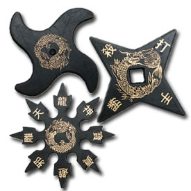 Rubber Throwing Stars