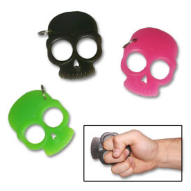 Self Defense Skull Keychain