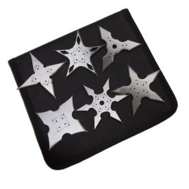 Silver Assassin Throwing Stars