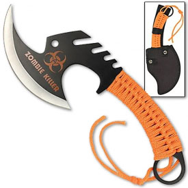 Skull Splitter Zombie Throwing Hatchet