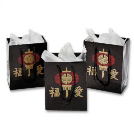 Small Sized Asian Gift Bags (12-Pack)