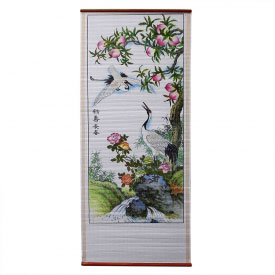 Swooping Crane Wall Scroll