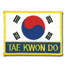 Taekwondo Flag Patch