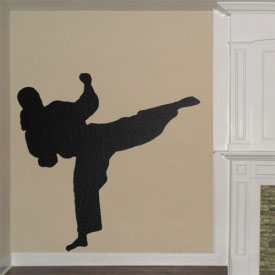 Taekwondo Girl Wall Decal
