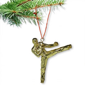 Taekwondo Sidekick Christmas Ornament