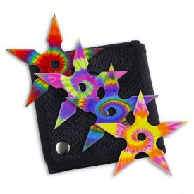 Tie-Dye Throwing Star Set