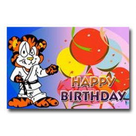 Tiger Birthday Postcard