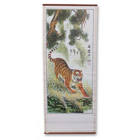 Tiger Wall Scroll Painting