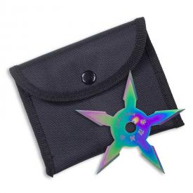 Titanium Finish 5-Point Ninja Star