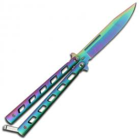Titanium Finish Butterfly Knife