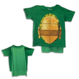 TMNT Green Removable Cape Shirt