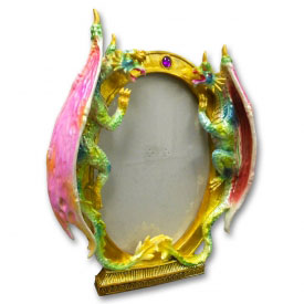 Twin Dragons Picture Frame