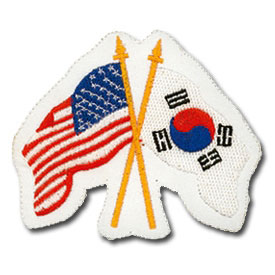 USA and Korean Flags Patch